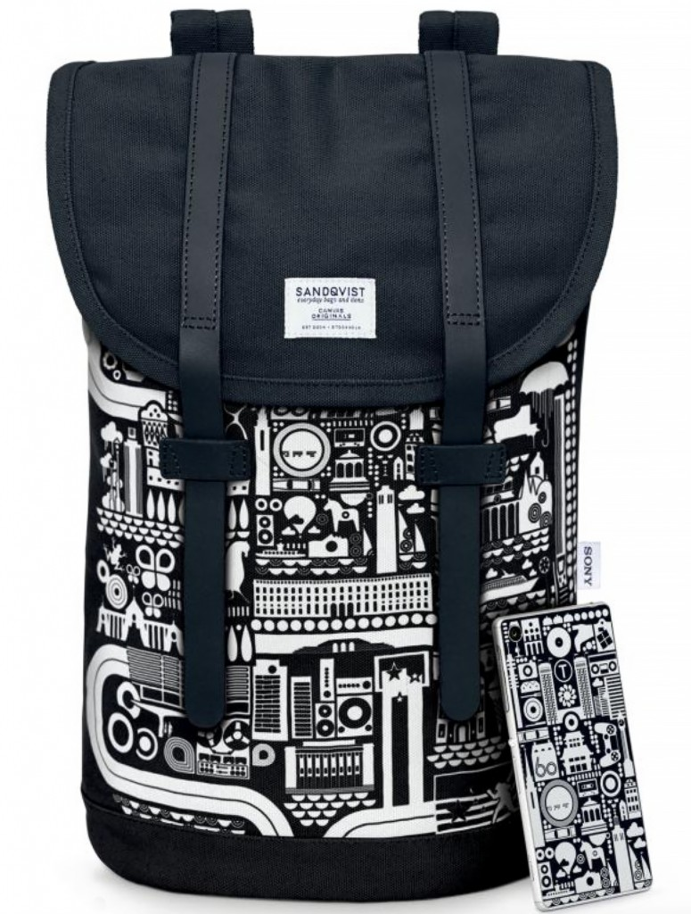 Bo Lundberg Illustration Sony Backpack