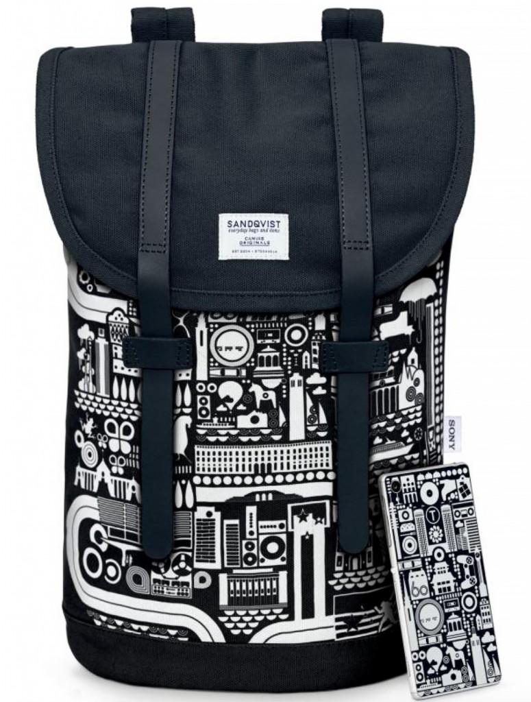 Bo Lundberg Illustration Sony Backpack